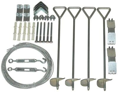 Palram Snap and Grow Series 1.5 ft. x 0.33 ft. x 4 in. Greenhouse Anchoring Kit