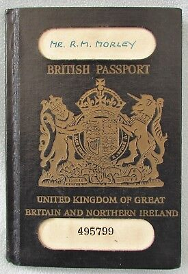 Vintage Collectable Blue British Passport Rare Unclipped 1956