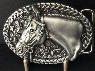 New Western Antique Silver Alloy Horse Belt Buckle