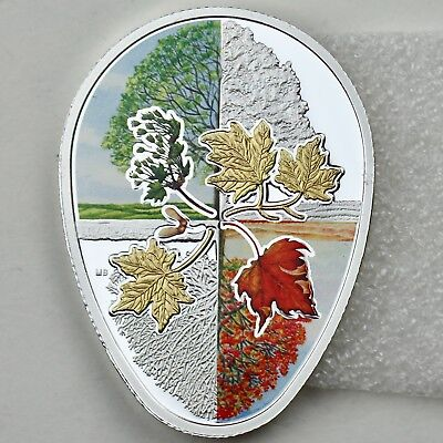 2017 /'Hot Air Balloons/' Shaped Colorized Proof $20 Silver Canada Coin