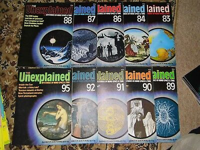 10 x THE UNEXPLAINED MAGAZINE - MYSTERIES - GHOSTS - HAUNTINGS - Ten issues