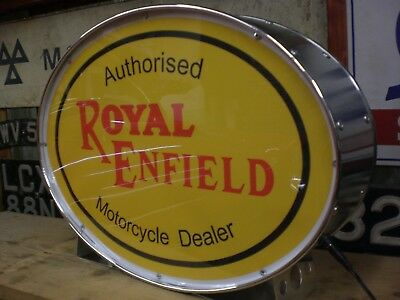 royal enfield,bullet,bike,lightup,sign,display,mancave,garage,motorcycle,shed