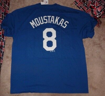 cheap for discount bfc72 92ef4 MIKE MOUSTAKAS #8 Kansas City Royals Majestic Men's Navy ...