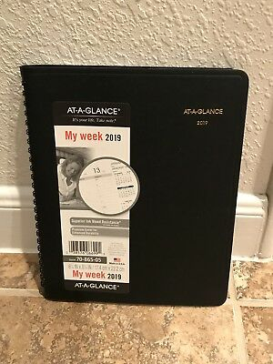 At-A-Glance 2019 Planner Calendar DayMinder Weekly New Year 70-865-05 Black