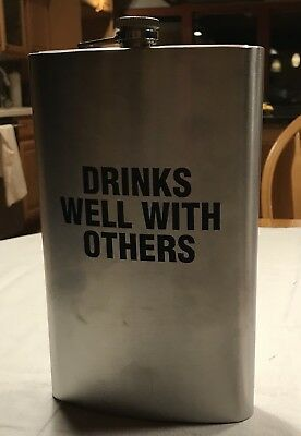 Jumbo Flask 64 oz Stainless Steel Alcohol Drink Cap Large Party Novelty Gag Gift