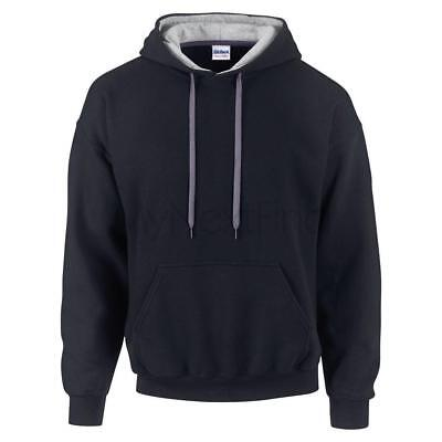 Gildan Contrast Colour Heavy Blend Hoodie Hooded Sweatshirt Jumper