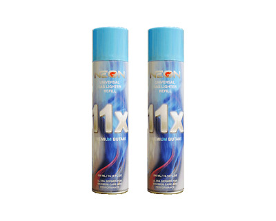 Neon 11x Ultra Refined Butane Fuel Lighter Gas 300ml - (2) Cans - SAME DAY SHIP