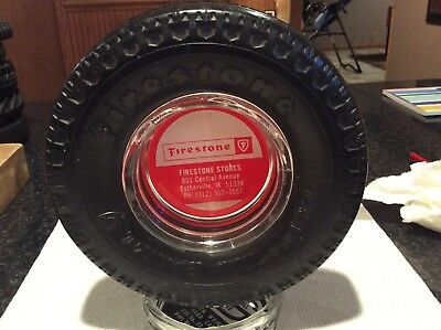 Vintage FIRESTONE TRANSTEEL RADIAL Rubber Tire Ashtray 1970's