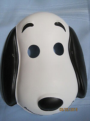 Vintage Peanuts SNOOPY Halloween Costume & Mask Set New/Old Stock Childs Size SM