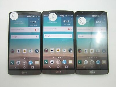 Lot of 3 LG G3 US990 US Cellular Check IMEI Good Condition 3-345