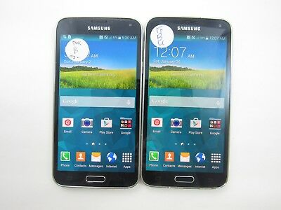 Lot of 2 Samsung Galaxy S5 S902L Tracfone Check IMEI Good Condition 3-1690