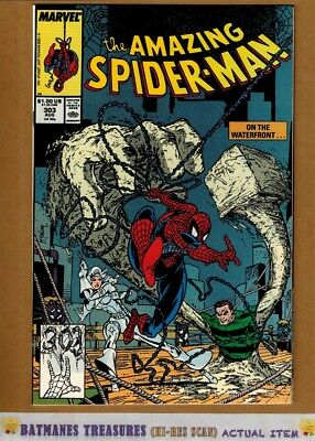 Amazing Spider-Man #303 (9.2-9.4) NM Silver Sable App 1988 By Todd McFarlane