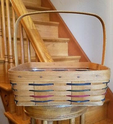 Longaberger Woven Traditions Pie Basket 1994, and Protector!!!