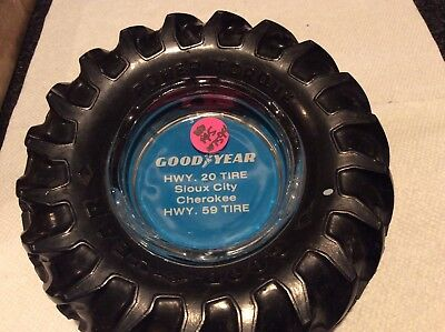 Vintage Tire Ashtray  Goodyear Tractor Tire Great Condition