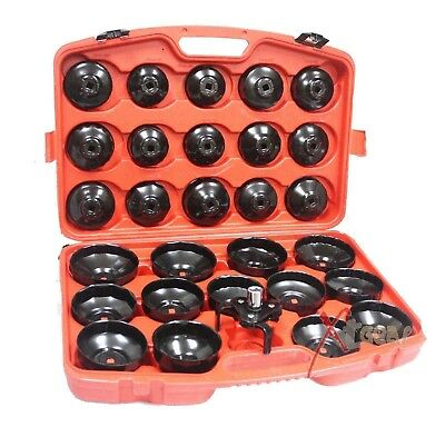 30pcs Oil Filter Cap Wrench Cup Socket Set BMW VW Audi Volvo Ford Mercedes Tool