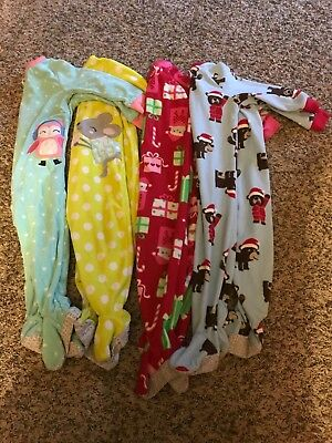 Lot of 4 size 18 month girl sleepers preowned gently used