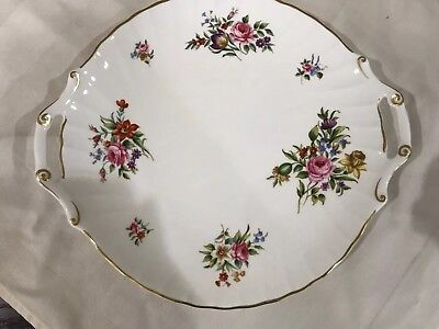 "Vintage Royal Worcester Fine Bone China Witley Garden Serving Tray 12"" dia 1986"