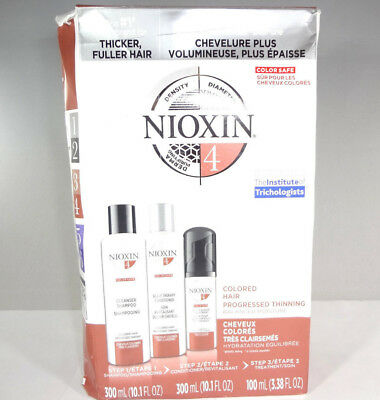 Nioxin 4 - Colored Hair Progressed Thinning Steps 1-3 *READ* [HB-N]