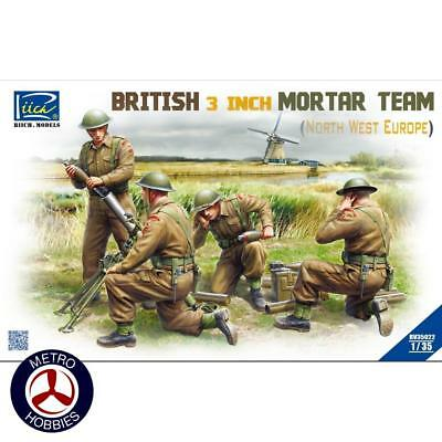 Riich Models 1/35 British 3in Mortar Team Set North West Europe 35022 Brand New