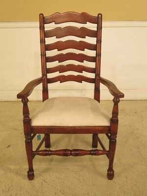 F29634E: MORGAN HILL Rustic Style Ladder Back Arm Chair Age: Approx: 20 Y
