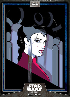 Topps Star Wars Card Trader Illustrated CTI Series 6 BLUE Queen Amidala