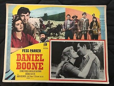 1964 DANIEL BOONE with Fess Parker and Patricia Blair  Mexican Lobby Card