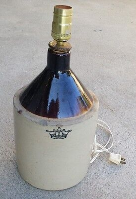 Vintage Crown Seal  Robinson Ransbottom Shoulder Jug Lamp 1 Gallon