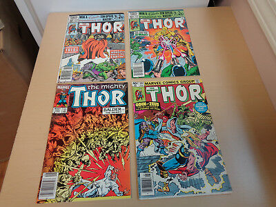 4 Very Nice Vintage Marvel Comics-The Mighty Thor 291, 313, 315, 344