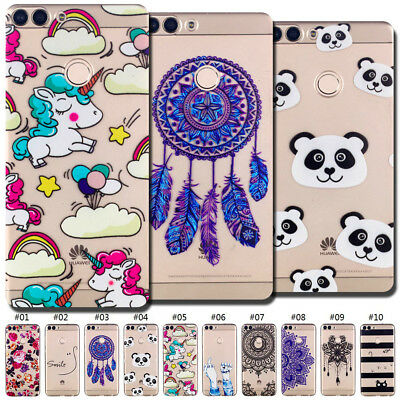 For Huawei Enjoy 7S/P Smart TPU Clear Soft Back Case Cover Silicone Rubber Skin