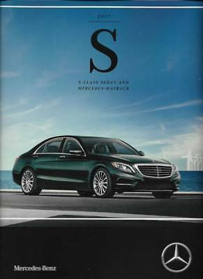 2017 17  Mercedes Benz S Class Sedan & Maybach  Original  Sales Brochure