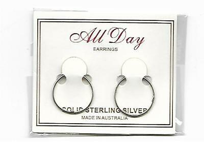 925 Solid Sterling Silver Sleepers 18mm  Plain  NEW !!!!!