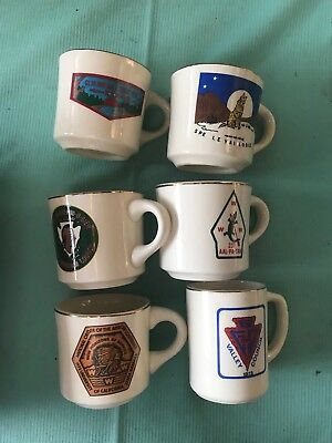 Vintage lot of Boy Scouts BSA Coffee Mug Scout Camps Camp rare order of arrow