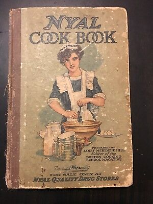 Antique NYAL Cookbook 1916 Boston Cooking School Recipes Pictorial Cover HB
