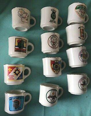 Vintage large lot of Boy Scouts BSA Coffee Mug Scout Camps Camp rare various