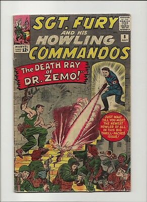 Sgt. Fury and his Howling Commandos 8 VG 4.0 Jack Kirby 1964 Nick