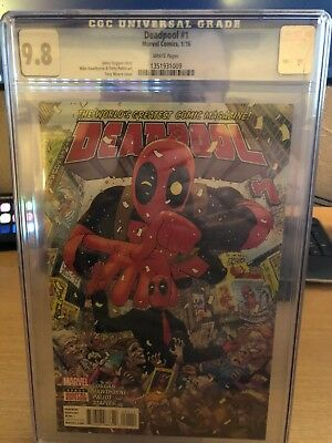 Deadpool #1 CGC 9.8 Marvel Comics Beautiful Slab