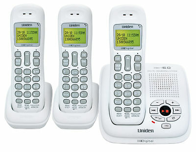 Uniden Dect 1035+2 Digital Cordless Phone System 3 Handsets Nbn Compatible