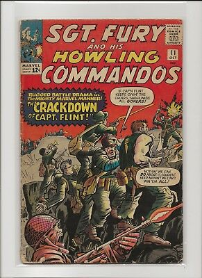 Sgt. Fury and his Howling Commandos 11 VG- 3.5 Jack Kirby 1964 Nick