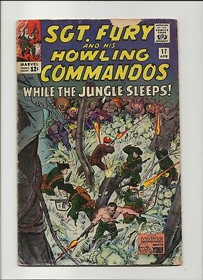 Sgt. Fury and his Howling Commandos 17 G/VG 3.0 Jack Kirby 1965 Nick