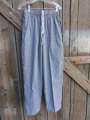 Chef Works Ladies Pants Size Small Black and White Check NWT Inseam 32