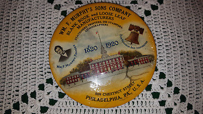 Vintage Celluloid 1920's Advertising Pocket Mirror ~ Wm Murphy's Sons Company