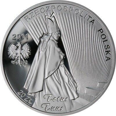 Poland 20 zlotych Beatification of John Paul Pope II, 2011, silver coin