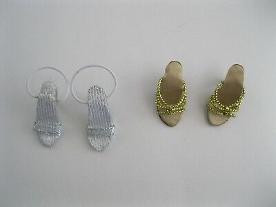 "Tonner 2 pair shoes gold and silver for 10"" Tiny Kitty"