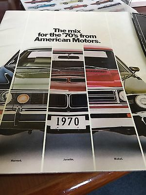 1970 AMC Ambass. Hornet Javelin Rebel Machine AMX Brochure Canada French mx9301