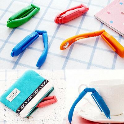 Tiny Book Light LED Booklight Travel Books Reading Lamp Clip On Folding GJ