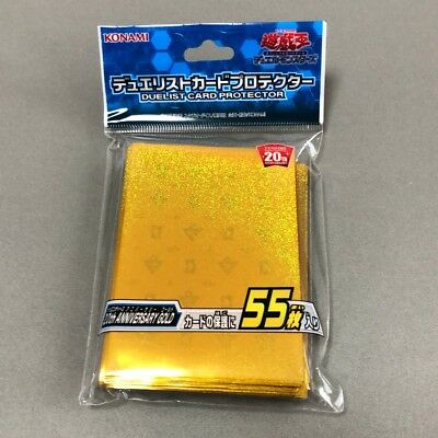 Yugioh/ Official Card Sleeve Protector: 20th ANNIVERSARY GOLD / 55pcs