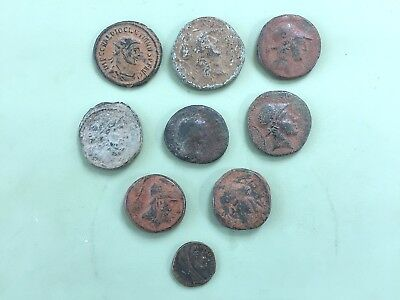 Roman Greek Coin Ancient Antique Mediterranean Sea Shipwreck Bronze Rare Lot 9