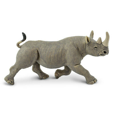 Wild Safari Wildlife Black Rhino Safari Ltd Animal Educational Toy Figure