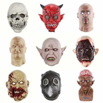 Halloween Scary Adult Bloody Zombie Skeleton Latex Face Mask Costume Horror AU