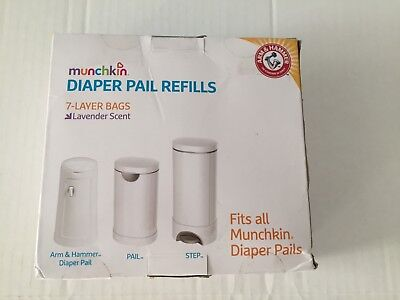 Munchkin Arm & Hammer Diaper Pail Refill Bags - 20-Count - Lavender Scent